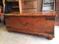 John Lewis Maharani Indian rosewood solid wood chest/trunk/coffee table/seating