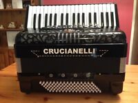 Crucianelli 96 bass Italian made accordion