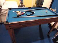 6 in 1 Pool Table/ Table Football/ Air Hockey