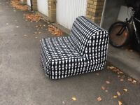 1 seater IKEA Lycksele havet chairbed