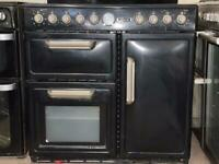 Leisure electric range cooker 90cm black double oven 3 months warranty free local delivery