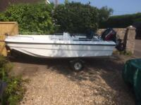 15' boat with engine and trailer
