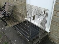 ROSWOOD Medium Dog Crate/Cage with tray & carry handle.