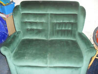 willowbrook 2 seater sette +reciner chair jade green