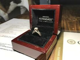 Diamond Ring VVS2 white gold 18ct