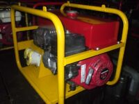 3KW ( 110V ONLY ) GENUINE HONDA 4 STROKE PETROL SITE GENERATOR WITH LOW OIL AUTOMATIC SHUTDOWN