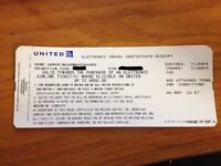 United Airline Discount Coupon worth US $850 (CA $1100)