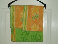 DOUBLE DUVET COVER & PILLOWCASES BED SET - ORANGE & LIME