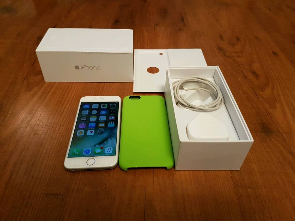 Iphone 6, boxed with charger and genuine Apple casein Stoke on Trent, StaffordshireGumtree - Iphone 6, 16gb, boxed with charger and genuine apple case.Screen protector still fitted from when first bought.EE/Tmobile/Virgin/Orange networks£185.No offers, No swapsLast price £185.Final price £185.Any offers less will increase the price to...