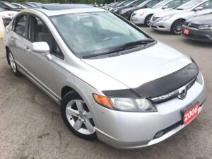 2006 Honda Civic EX/AUTO/SUNROOF/ALLOYS/LOW LOW LOW KMS/LIKE NEW