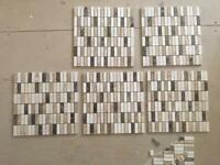 5 sheets of marble mosaic tiles