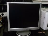 "Silver PHILIPS 190S monitor 19"" screen VGA"