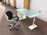 Glass top IKEA desk and chair free London delivery