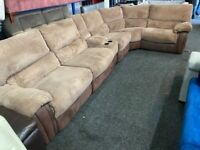 NEW - EX DISPLAY LAZYBOY ARLINGTON RECLINER CORNER SOFA + MEDIA 70% Off RRP