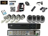 CCTV 8CH Full HD 1080P DVR + 8 camera 2.4MP Night Vision Wide angle Sony Camera Home System