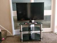 Black Tempered Glass TV Stand Very Good Condition