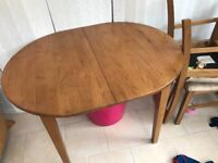 FREE wooden dining table and 4 chairs