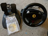 Thrustmaster Ferrari GT Experience PC/PS3 Steering Wheel & Pedal controller with Manual/DVD Software