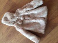 Lovely faux fur coat 6-7 years