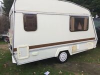 Elddis Wisp Lightweight 14ft 2 Birth, Cassette Toilet and Shower & Full Awning + Gas Bottle