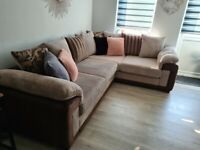 Left-hand corner unit sofa immaculate condition