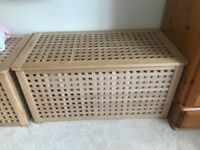 IKEA storage table/crate in light brown wood. EXCELLENT CONDITION