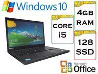 QUICK - Lenovo Thinkpad T440 i5 4gb Ram 128gb SSD Windows 10 Pro Laptop