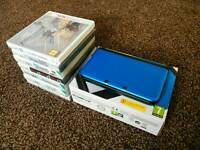 Blue Nintendo 3DS XL + games *like new*