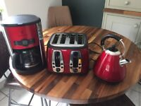 Matching kettle , toaster, coffee maker