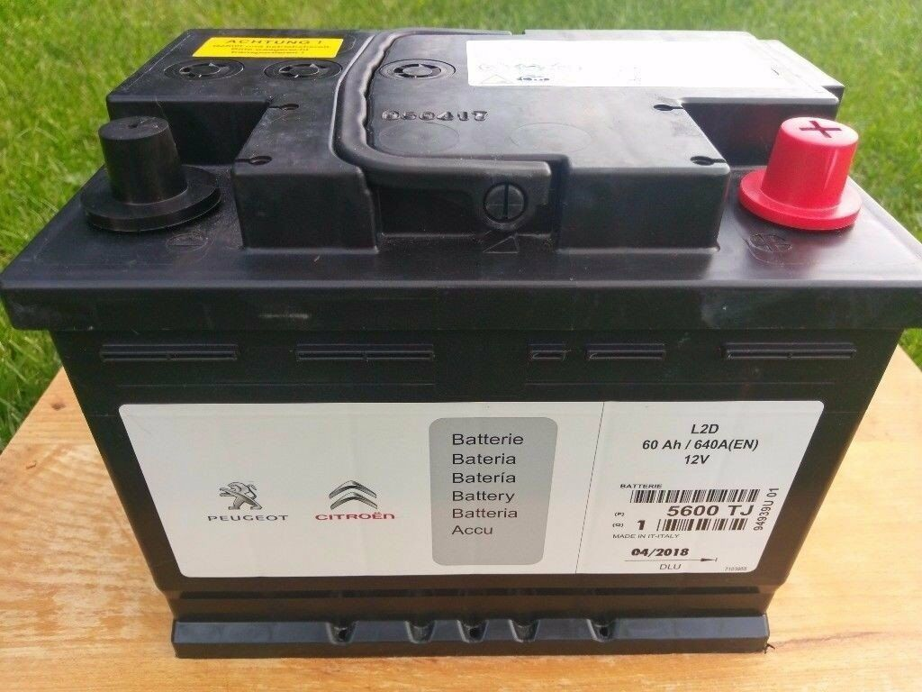 brand new peugeot citroen car battery 5600tj 12v 60ah 640a en in histon cambridgeshire. Black Bedroom Furniture Sets. Home Design Ideas