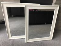 2 x white mirrors