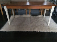 """Table...coffee table in """"winter Ivory"""" /oak ...solid wood"""
