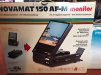 Novamat slide projector and monitor