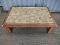 Pine Tiled Vintage Large Coffee Table