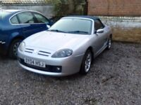 2004 mg mgtf 1.8 petrol only 43.000 miles 2 seater convertible manual gearbox tidy car April 18 MOT