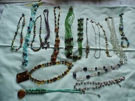 a lot of necklaces