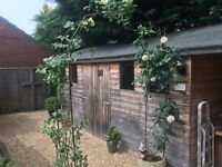 BIG GARDEN SHED WITH BARBECUE AREA