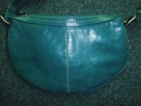 leather pretty ladies bag - lovely colour and pretty lining
