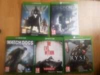 5 XBOX ONE GAMES BUNDLE
