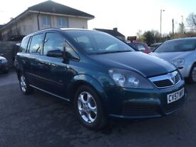 2007 (57 reg) Vauxhall Zafira 1.6 i 16v Life 5dr MPV Petrol 5 Speed Manual 7 Seater