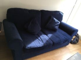 Sofabed for sale excellent condition. 3 seater sofa. Navy blue