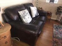 3 seater sofa, 2 seater sofa and footstool