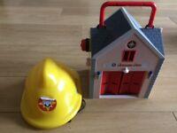 Fireman Sam Fire Station and Helmet