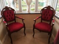 2 ornate Victorian style chairs