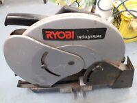 Ryobi industrial steel cutter/circular saw 110v with twin transformer