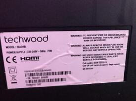2 broken TVs digihome techwood