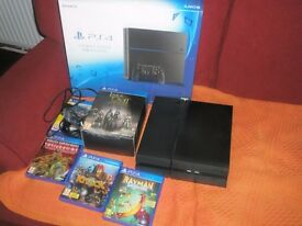1TB PLAYSTATION 4 CONSOLE PS4 BOXED WITH GAMES