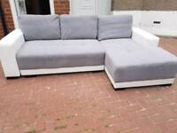 *FREE DELIVERY* Corner sofa Bed with storage space. Was £750 now only £300.