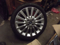 16.5 J x 17 Fiat alloy wheels and tyres MG Rover VW Vauxhall + more 4 x 100 PCD cars