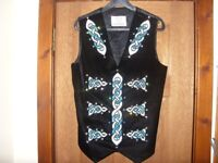 Boys Embroidered Irish Dance Dancing Waistcoat by Celtic Angel Irish Dancewear Great Used Condition